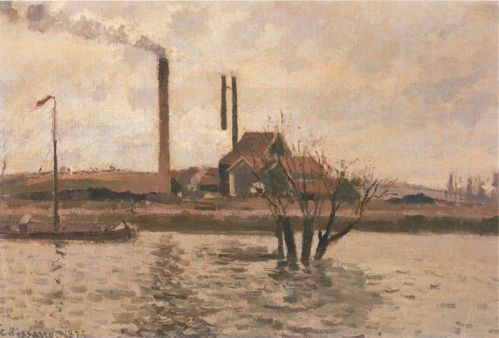 Camille Pissarro Seyir Oise Pontoise, Kanvas Tablo, Camille Pissarro, kanvas tablo, canvas print sales