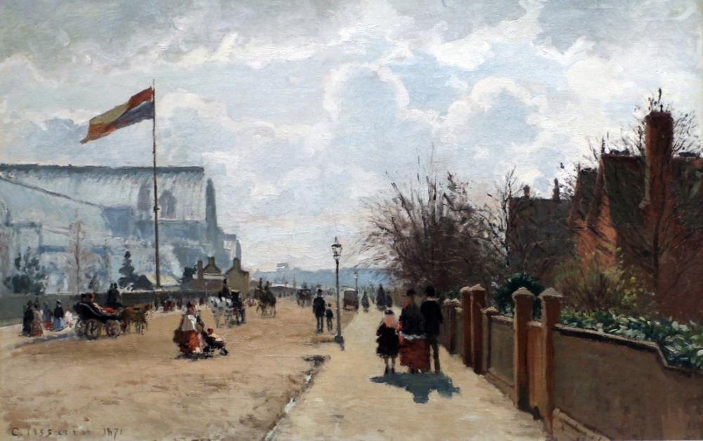 Camille Pissarro Kristal Sarayı, Kanvas Tablo, Camille Pissarro