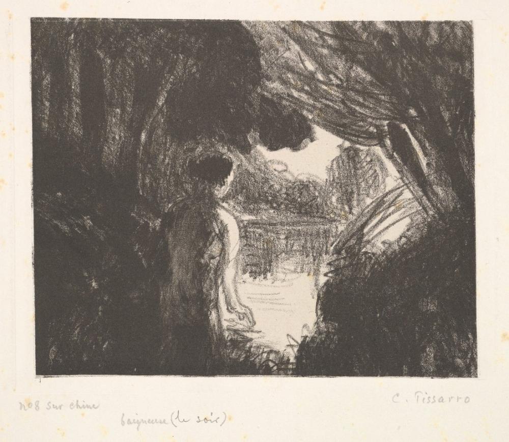 Camille Pissarro Bather Evening, Canvas, Camille Pissarro, kanvas tablo, canvas print sales