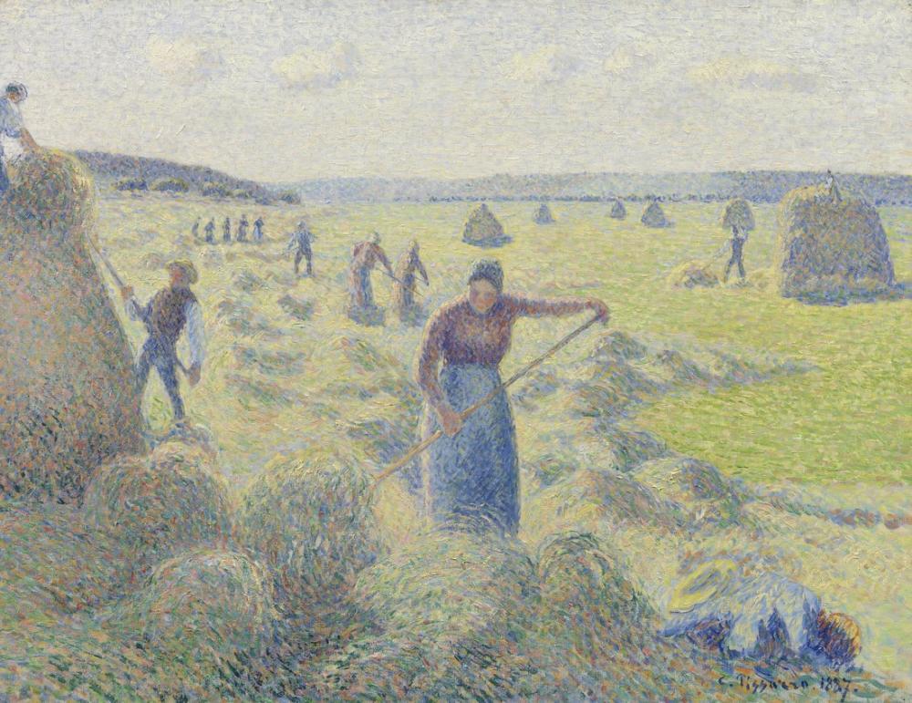 Camille Pissarro Saman Yapma Eragny, Kanvas Tablo, Camille Pissarro