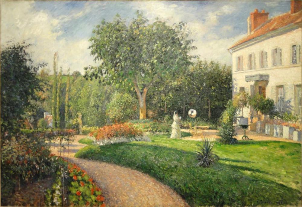 Camille Pissarro Mathurinler Bahçesi Bayanlara Özel Pontoise Deraismes, Kanvas Tablo, Camille Pissarro