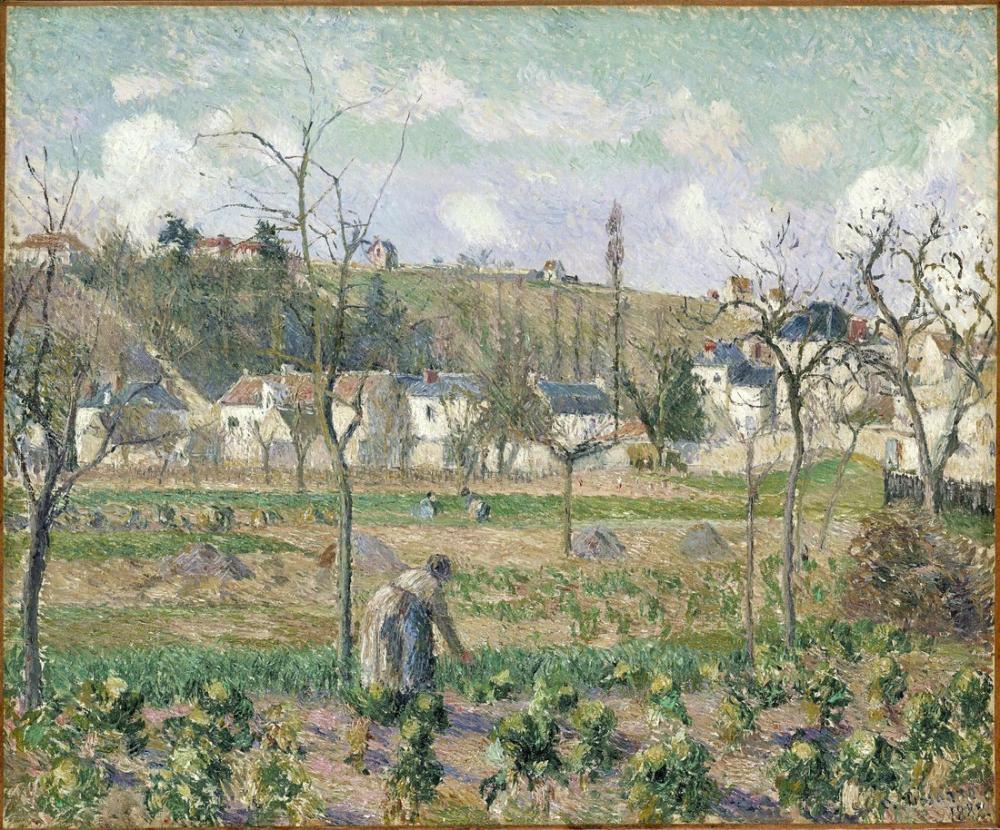 Camille Pissarro Maubuisson Bahçesi Pontoise Annesi Bellette, Kanvas Tablo, Camille Pissarro, kanvas tablo, canvas print sales