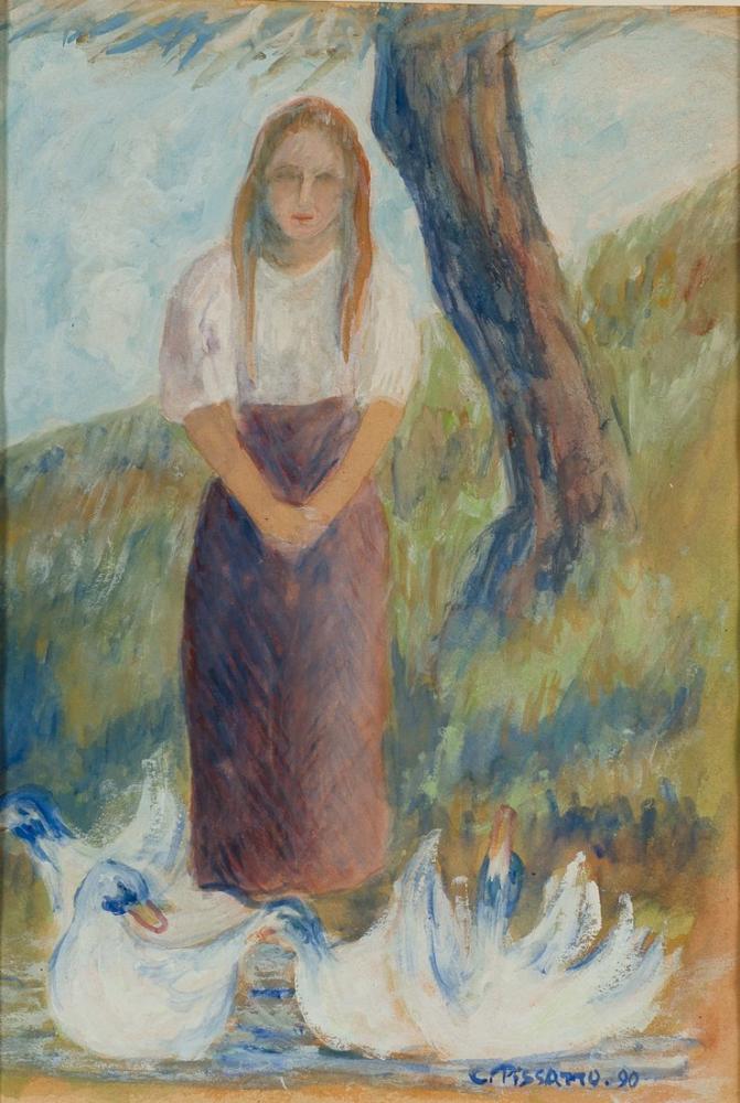 Camille Pissarro Kaz Kaleci, Kanvas Tablo, Camille Pissarro