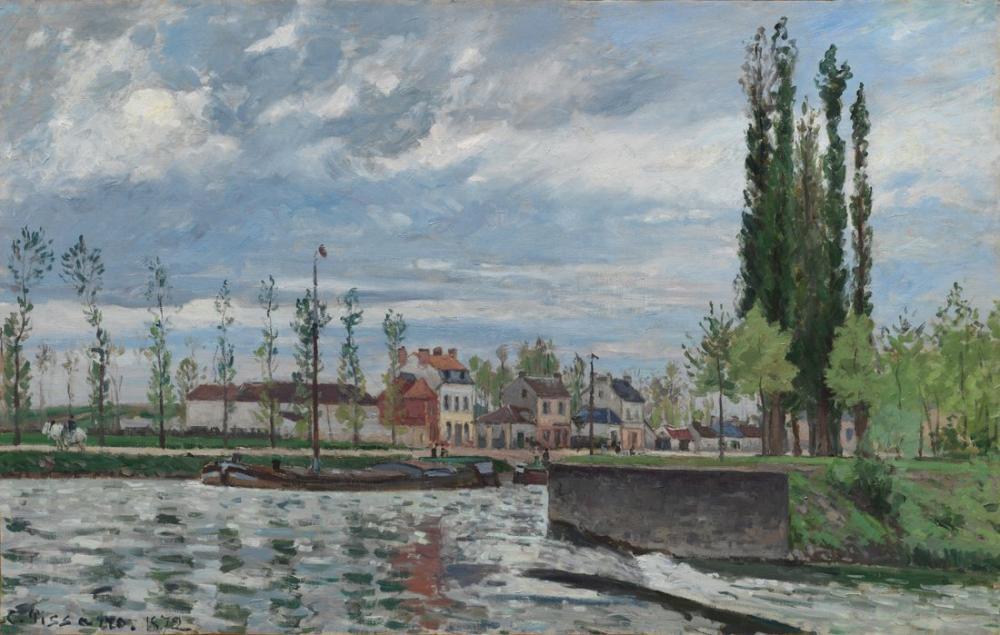 Camille Pissarro Pontoise Kilidi, Kanvas Tablo, Camille Pissarro