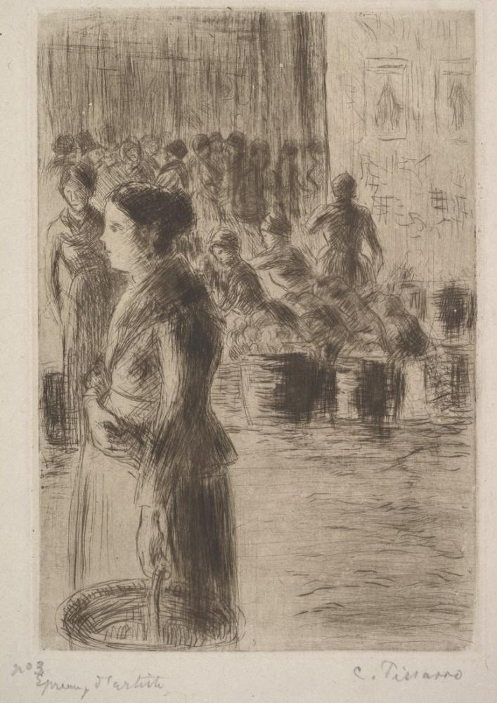 Camille Pissarro The Maid At The Market, Canvas, Camille Pissarro, kanvas tablo, canvas print sales