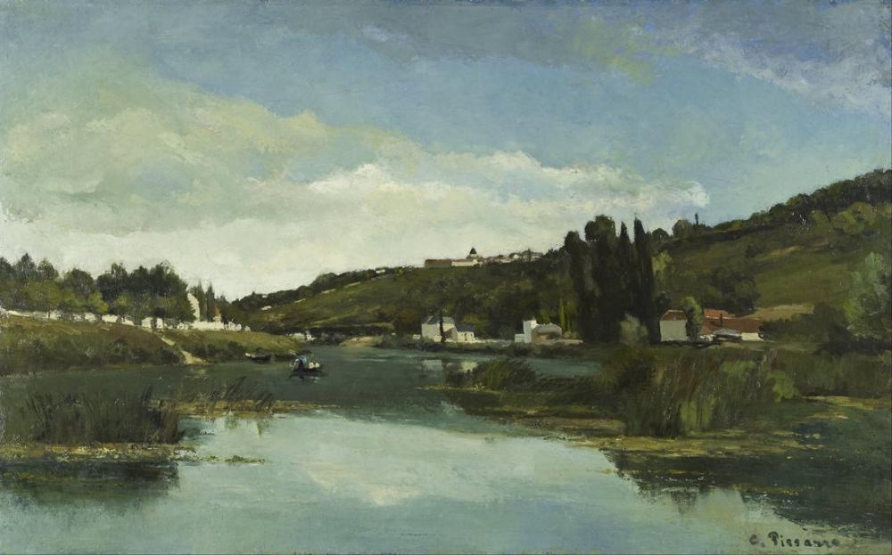 Camille Pissarro Marne Chennevieres, Kanvas Tablo, Camille Pissarro
