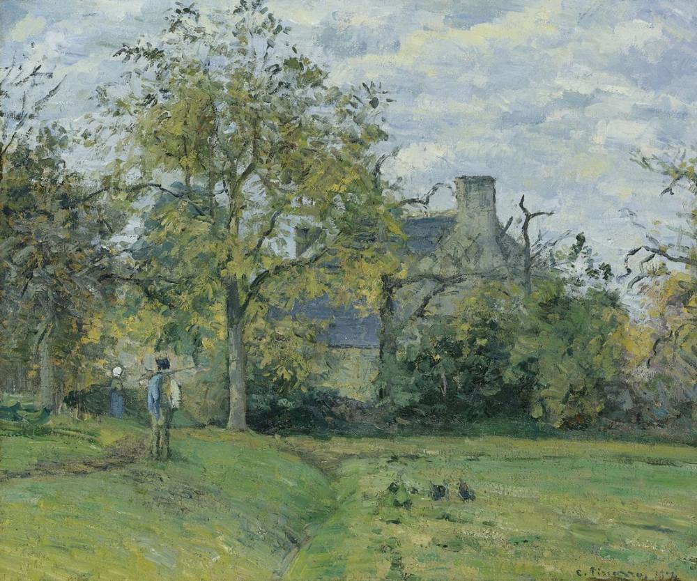 Camille Pissarro Piet Evi Montfoucault, Kanvas Tablo, Camille Pissarro