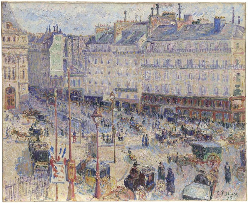 Camille Pissarro Paris Meydanı, Kanvas Tablo, Camille Pissarro