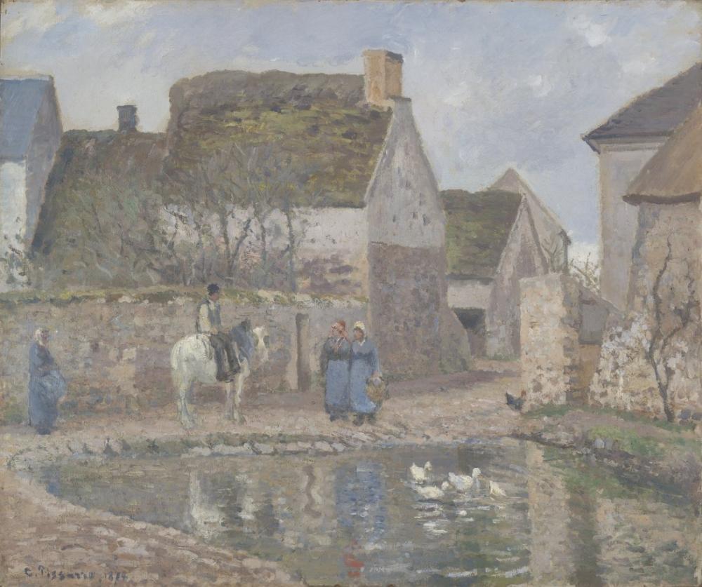 Camille Pissarro Gölet Ennery, Kanvas Tablo, Camille Pissarro, kanvas tablo, canvas print sales