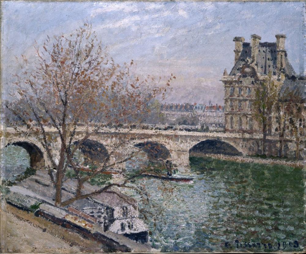 Camille Pissarro The Pont Royal And The Pavillon De Flore, Canvas, Camille Pissarro, kanvas tablo, canvas print sales