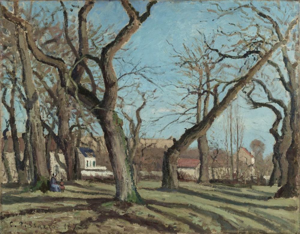 Camille Pissarro Kestane Ağacı Louveciennes, Kanvas Tablo, Camille Pissarro, kanvas tablo, canvas print sales