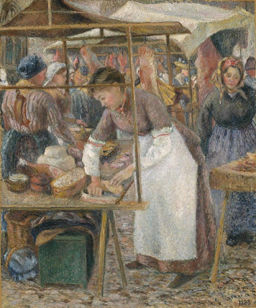 Camille Pissarro Domuz Kasabı, Kanvas Tablo, Camille Pissarro, kanvas tablo, canvas print sales