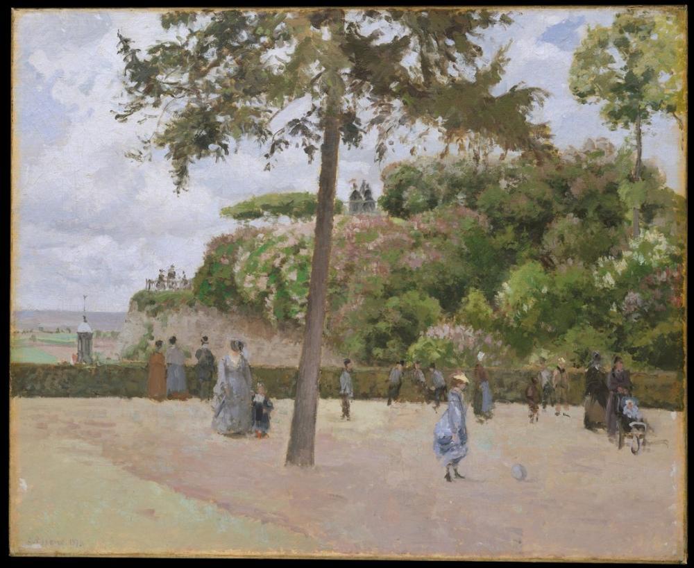 Camille Pissarro Kamu Bahçesi  Pontoise, Kanvas Tablo, Camille Pissarro, kanvas tablo, canvas print sales