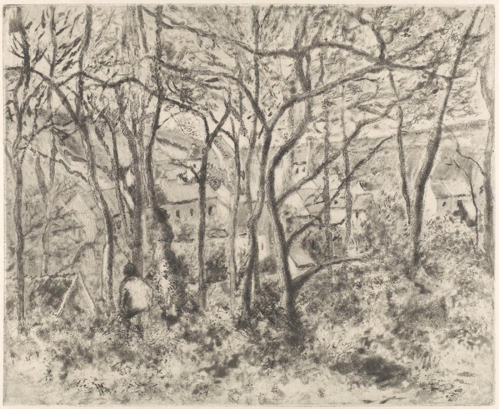 Camille Pissarro Ormanlar LHermitage Pontoise, Kanvas Tablo, Camille Pissarro