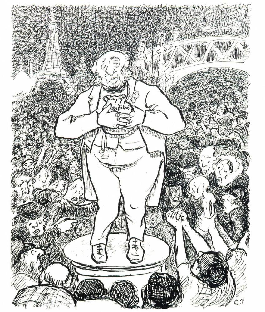 Camille Pissarro Sosyal Türbülans Savaş, Kanvas Tablo, Camille Pissarro