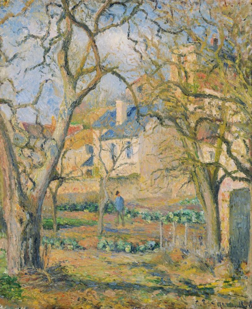 Camille Pissarro Sebze Bahçesi, Kanvas Tablo, Camille Pissarro
