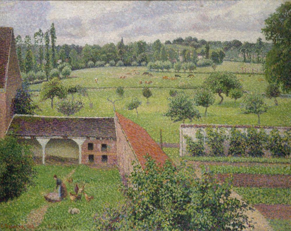Camille Pissarro Penceremden Görünüm Eragny Sur Epte, Kanvas Tablo, Camille Pissarro, kanvas tablo, canvas print sales