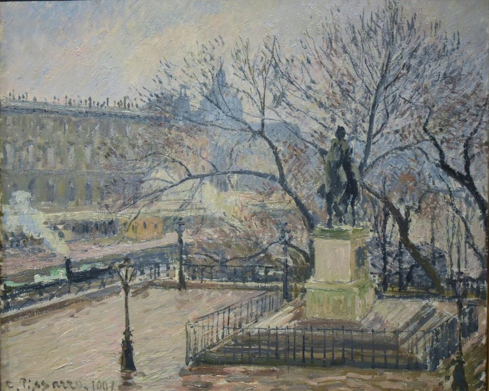 Camille Pissarro Henri IV Neuf İle Pont Neuf Görünümü, Kanvas Tablo, Camille Pissarro