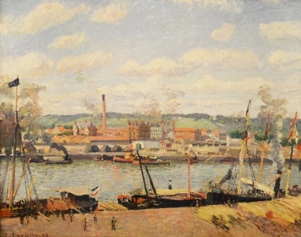 Camille Pissarro Oissel Pamuğunun Görünümü, Kanvas Tablo, Camille Pissarro, kanvas tablo, canvas print sales