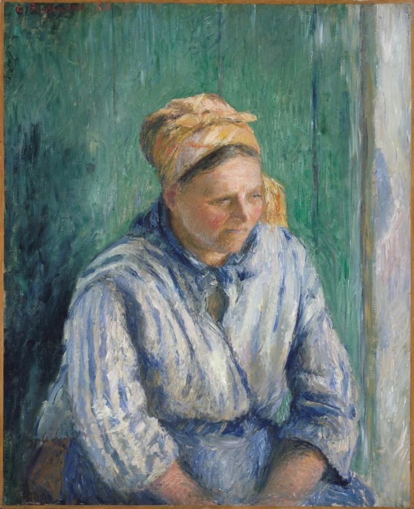 Camille Pissarro Çamaşırcı Çalışması, Kanvas Tablo, Camille Pissarro