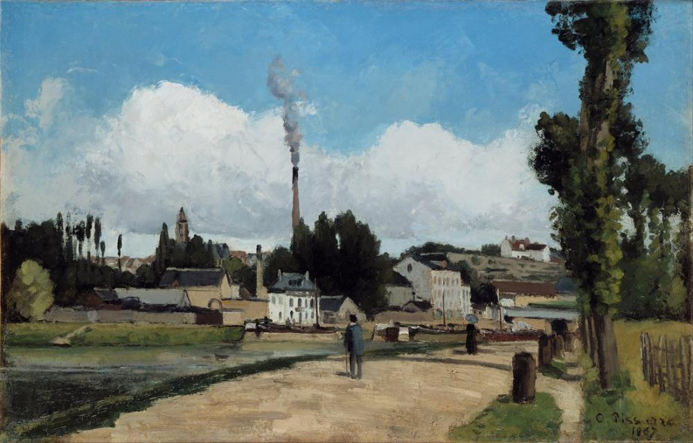 Camille Pissarro Pontoise 1867, Kanvas Tablo, Camille Pissarro