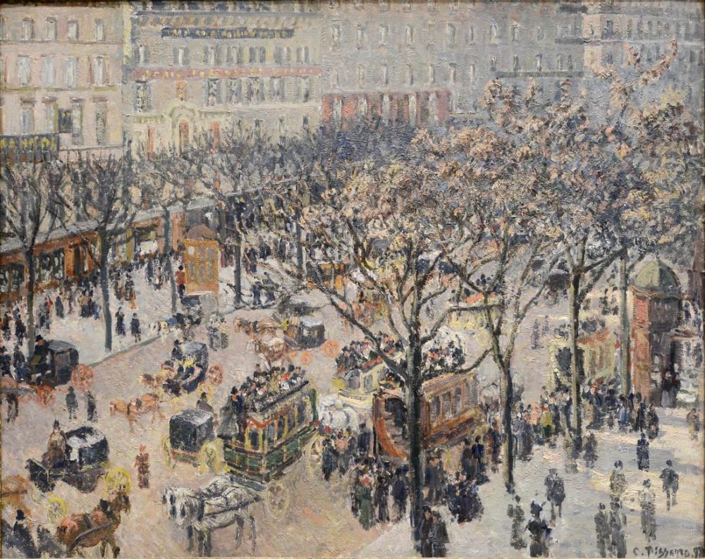 Camille Pissarro Boulevard Des Italiens Morning Sunlight II, Canvas, Camille Pissarro, kanvas tablo, canvas print sales