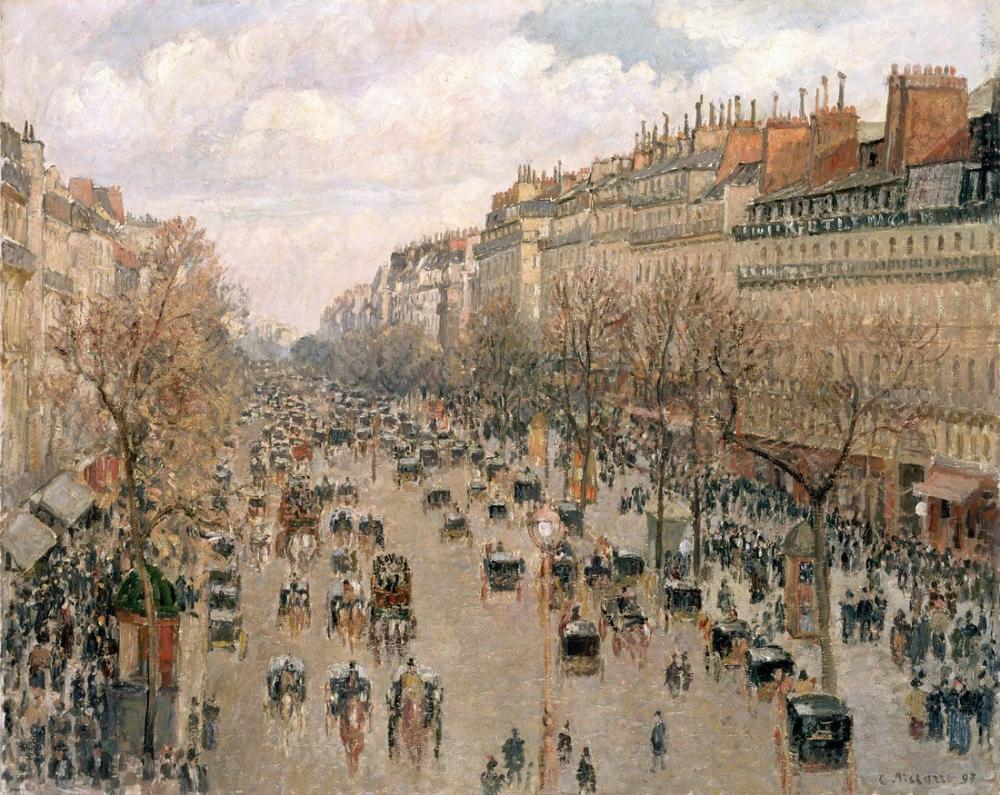 Camille Pissarro Montmartre Bulvarı, Kanvas Tablo, Camille Pissarro, kanvas tablo, canvas print sales
