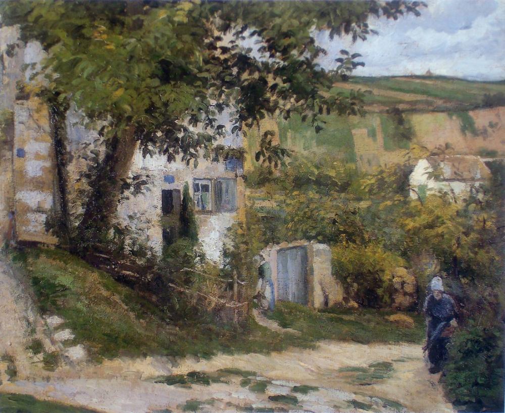Camille Pissarro Hermitage Yolu, Kanvas Tablo, Camille Pissarro