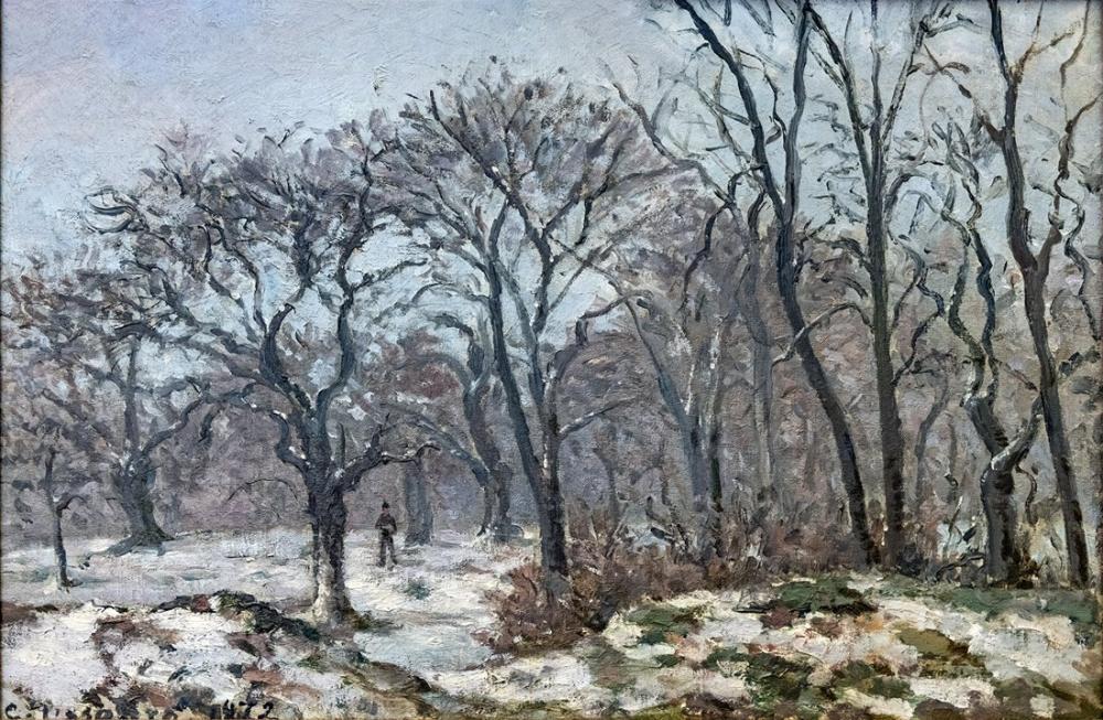 Camille Pissarro Kış Aylarında Kestane Ağaçları Louveciennes, Kanvas Tablo, Camille Pissarro, kanvas tablo, canvas print sales