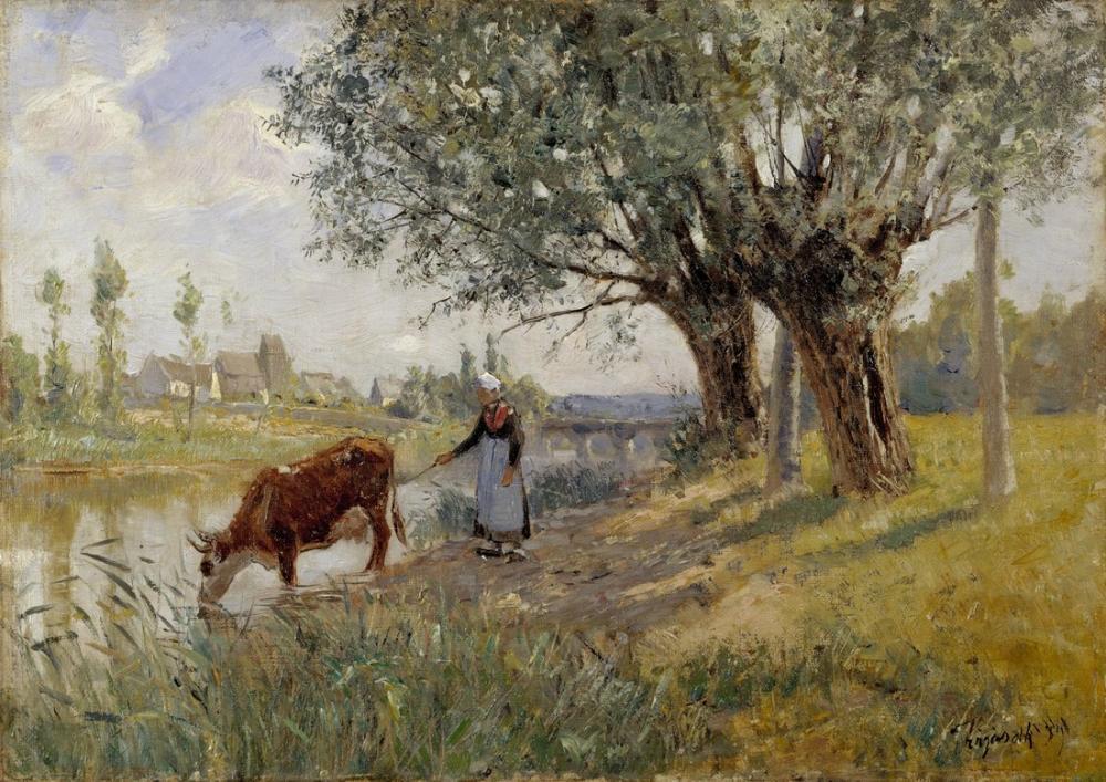 Camille Pissarro Grez Sur Loing Carl Tragardh Yakınındaki Kırsal, Kanvas Tablo, Camille Pissarro