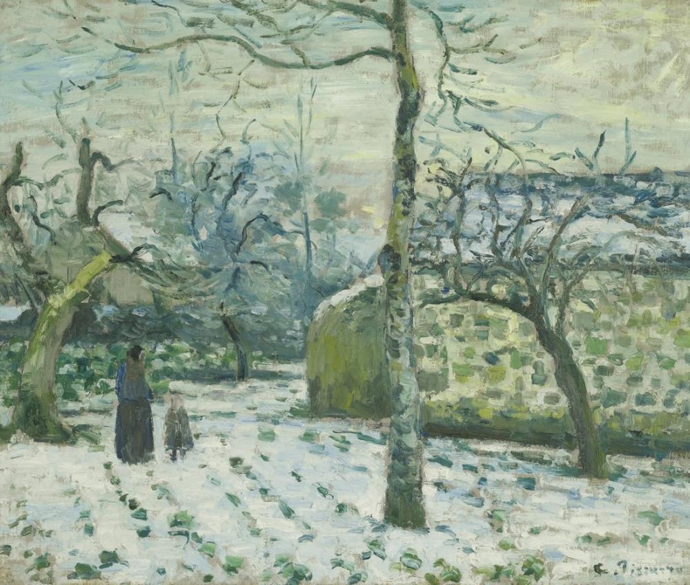 Camille Pissarro Montfoucault İçindeki Karın Etkisi, Kanvas Tablo, Camille Pissarro