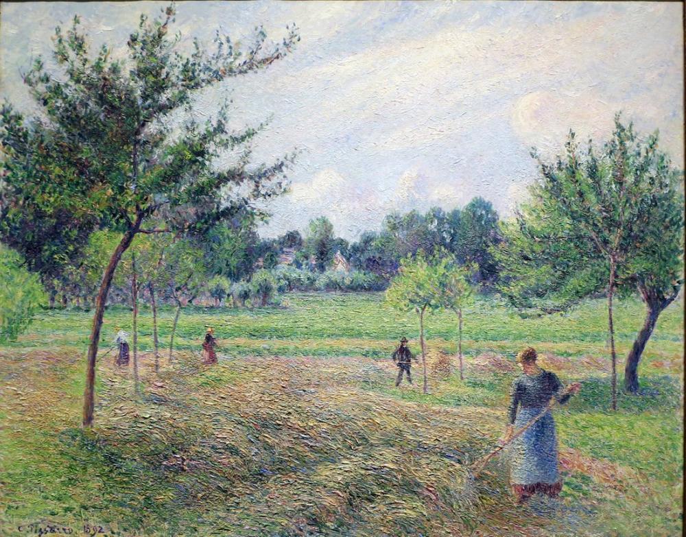 Camille Pissarro Eragny Saman Yapma, Kanvas Tablo, Camille Pissarro, kanvas tablo, canvas print sales