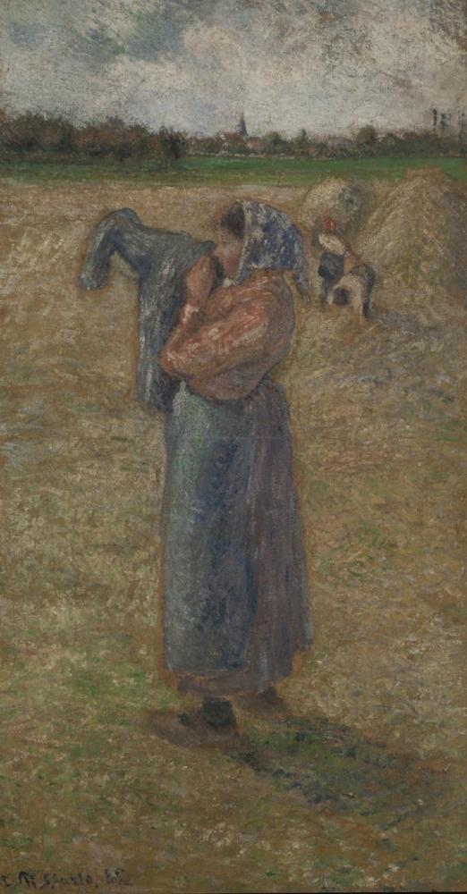 Camille Pissarro Kadını Tarlalarda, Kanvas Tablo, Camille Pissarro, kanvas tablo, canvas print sales