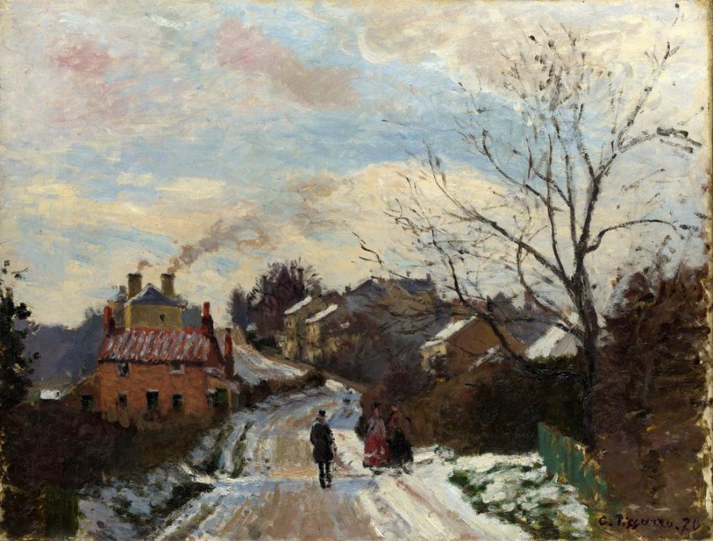 Camille Pissarro Fox Hill Upper Norwood, Canvas, Camille Pissarro, kanvas tablo, canvas print sales