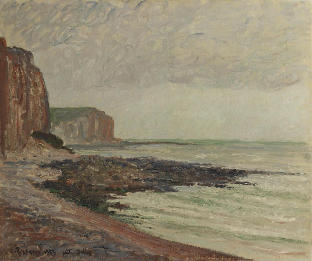 Camille Pissarro French Falaises Aux Petites Dalles, Canvas, Camille Pissarro, kanvas tablo, canvas print sales