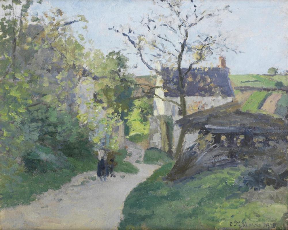 Camille Pissarro French The Big Walnut At The Hermitage, Canvas, Camille Pissarro, kanvas tablo, canvas print sales