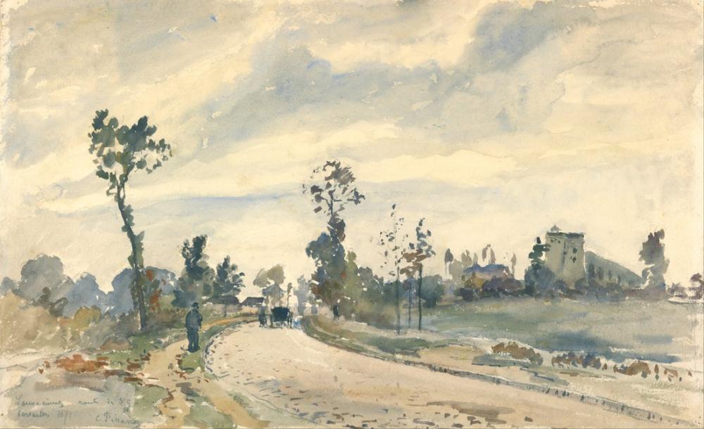 Camille Pissarro French Louveciennes Route De Saint Germain, Canvas, Camille Pissarro, kanvas tablo, canvas print sales