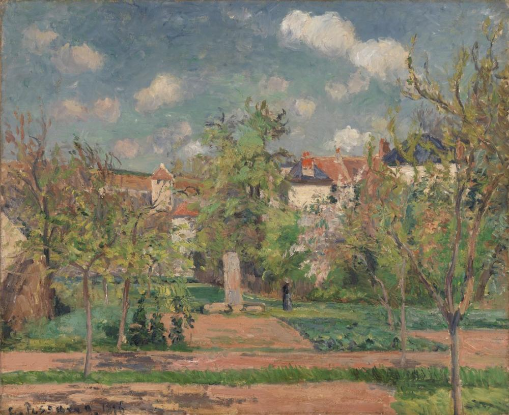 Camille Pissarro Garden In Full Sunlight Pontoise, Canvas, Camille Pissarro, kanvas tablo, canvas print sales