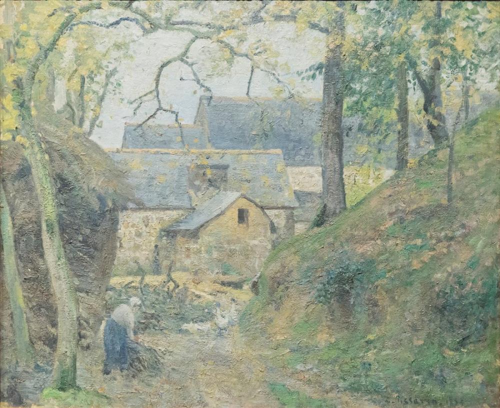 Camille Pissarro Gardi Montfoucault, Kanvas Tablo, Camille Pissarro, kanvas tablo, canvas print sales