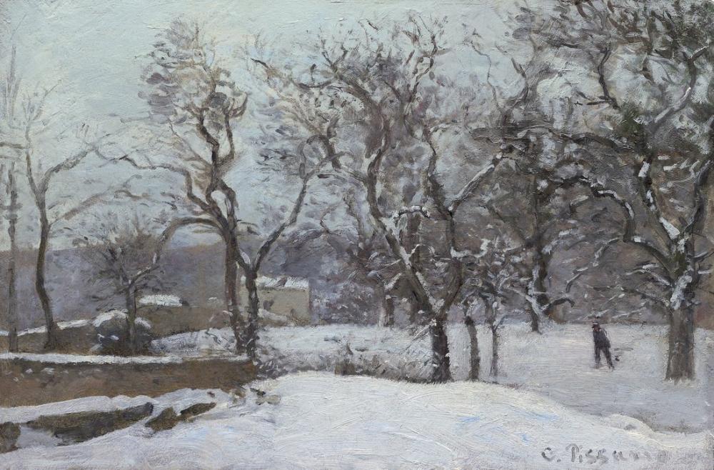 Camille Pissarro Grounds Of The Chateau Du Pont Under Snow Louveciennes, Canvas, Camille Pissarro, kanvas tablo, canvas print sales