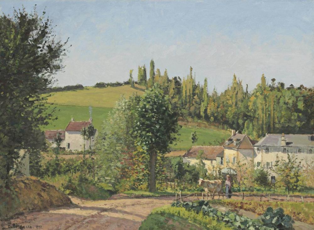 Camille Pissarro Pontoise Çevresinde Hamlet, Kanvas Tablo, Camille Pissarro