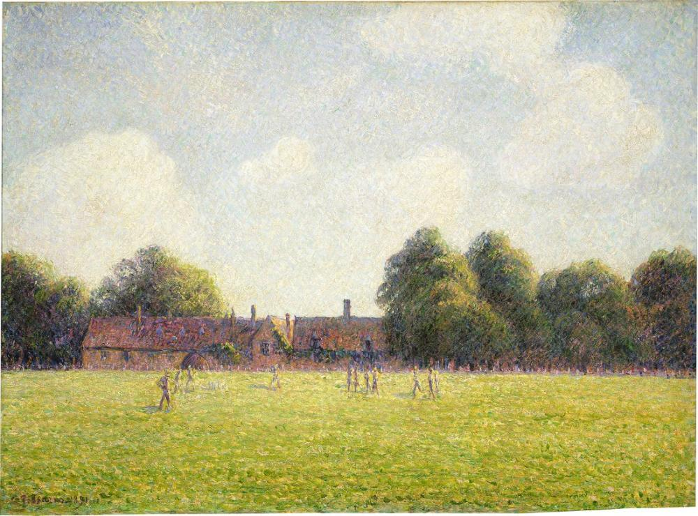 Camille Pissarro Hampton Court Green, Kanvas Tablo, Camille Pissarro, kanvas tablo, canvas print sales