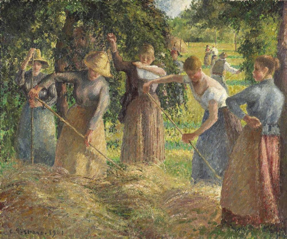 Camille Pissarro Saman Hasadı Eragny, Kanvas Tablo, Camille Pissarro, kanvas tablo, canvas print sales