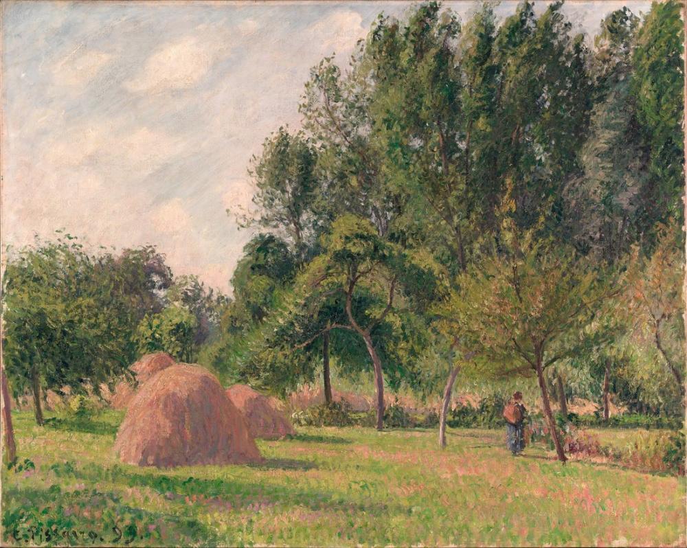 Camille Pissarro Samanlık Sabah Eragny, Kanvas Tablo, Camille Pissarro, kanvas tablo, canvas print sales