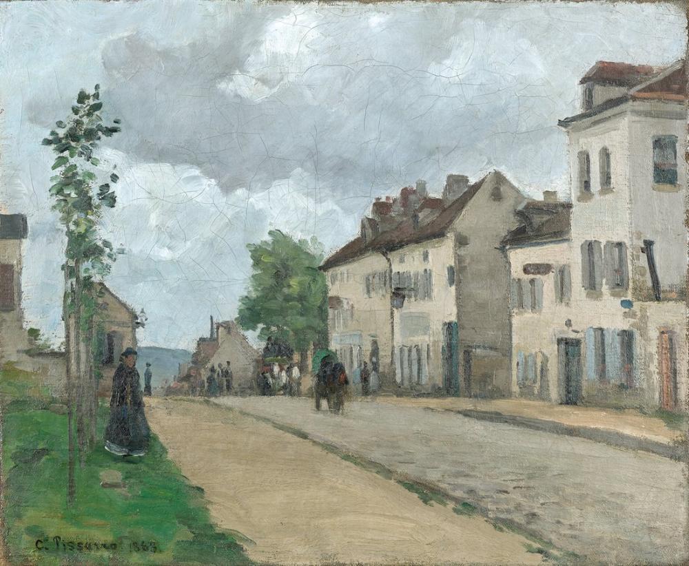 Pontoise Gisors Caddesi Jacob Caddesi, Kanvas Tablo, Camille Pissarro, kanvas tablo, canvas print sales