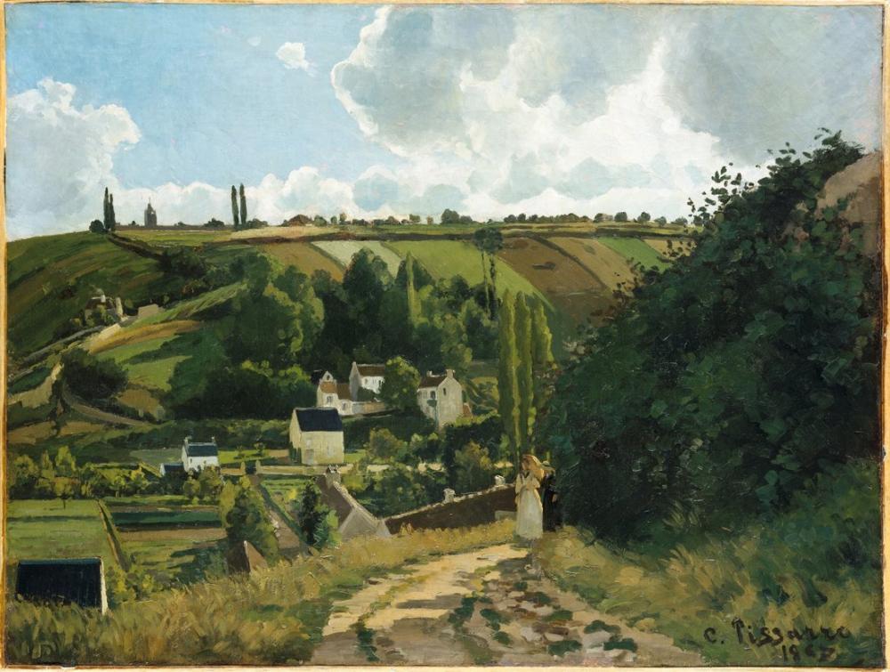 Camille Pissarro Jalais Tepesi Pontoise, Kanvas Tablo, Camille Pissarro, kanvas tablo, canvas print sales
