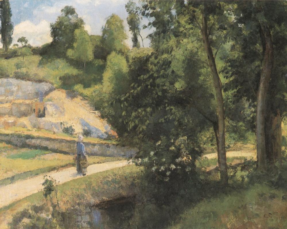 Camille Pissarro La Carriere Pontoise, Canvas, Camille Pissarro, kanvas tablo, canvas print sales