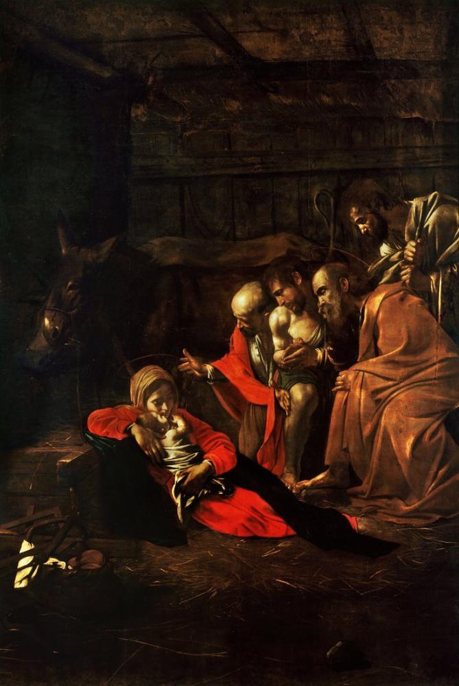 Caravaggio Adoration Of The Shepherds, Canvas, Caravaggio