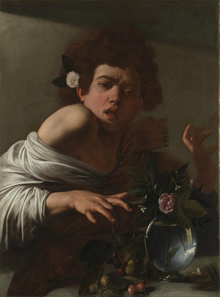 Caravaggio Bir Kertenkele Tarafından Isırılan Çocuk, Kanvas Tablo, Caravaggio, kanvas tablo, canvas print sales