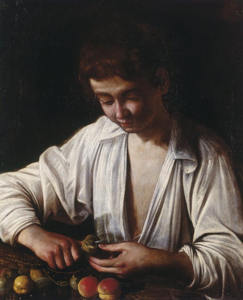 Caravaggio Boy Peeling Fruit, Canvas, Caravaggio